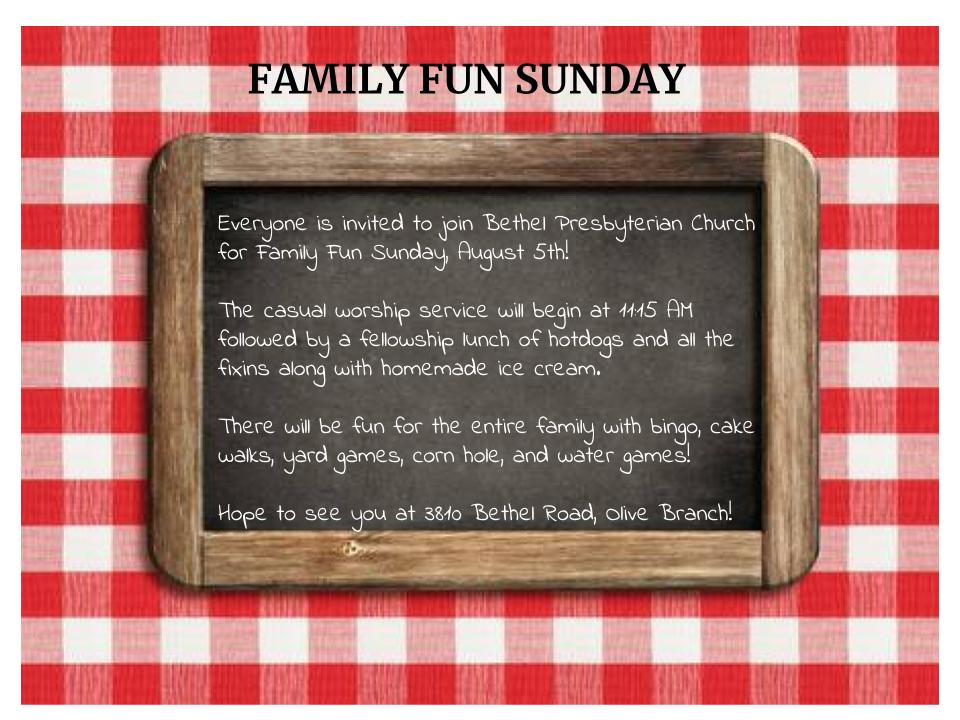 Family Fun Sunday